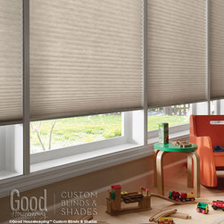 "Good Housekeeping - Good Housekeeping Double Cell Light Filtering Cellular Shades - Good Housekeeping signature 3/8"" Light Filtering Cellular shades is simple, elegant, honeycomb design with beautiful colors and styles."