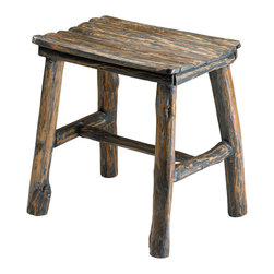 Cyan Design - Cyan Design Vintage Wooden Stool - Hearthside Seat with Farmhouse FlairManifested comfort. The Oregon Trail brought thousands to the West, and this rustic little stool brings that same rugged charm to any room. With a touch of log cabin texture and a bit of Pacific Northwest style, the short seat adds just that hint of home on the range for a cozy accent in your space. What's more, it looks great in practically any room - from kitchen to bedroom - it's a great bit of character and woodsy craftsmanship. This is the stool that travels well, no matter where you go!Crafted from real woodFinished with a distressed pecan stainKnotty wood detailing