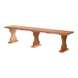All Things Cedar - Cedar 6ft. Backless Bench - A stand-off addition to any yard or landscape. Great for peripheral seating around the deck or as a subtle focal point in your garden area. Item is made to order.