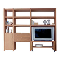 Temahome - Atlas Composition Ent05 - The atlas system is one of the most customizable solutions in the market. With its several accessories, you can adapt the shelves to meet your specific needs. From TV shelves to China cabinets, the array of configurations is limited only to your imagination.
