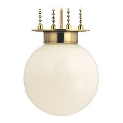 Hudson Valley Lighting - Hudson Valley Lighting 4214-AGB-OP Blaine Aged Brass Pendant - Hudson Valley Lighting 4214-AGB-OP Blaine Aged Brass Pendant