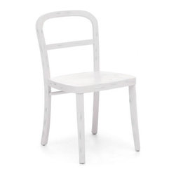 Zuo Modern - Zuo Fillmore Chair in White [Set of 2] - Fillmore Chair in White by Zuo Modern Simple and refined, the Filmore chair's carved, solid elm frame and smooth seat will not overpower any setting. Comes in natural, antique white, and antique black finishes. Chair (2)