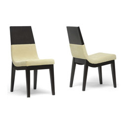 Wholesale Interiors - Prezna Dining Chair in Brown Finish - Set of - Invite fresh, contemporary sophistication into your home.