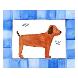 Oh How Cute Kids by Serena Bowman - Woof Woof, Ready To Hang Canvas Kid's Wall Decor, 8 X 10 - Each kid is unique in his/her own way, so why shouldn't their wall decor be as well! With our extensive selection of canvas wall art for kids, from princesses to spaceships, from cowboys to traveling girls, we'll help you find that perfect piece for your special one.  Or you can fill the entire room with our imaginative art; every canvas is part of a coordinated series, an easy way to provide a complete and unified look for any room.