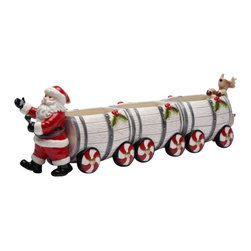 Cosmos - Santa Claus and Reindeer Salt and Pepper Shakers with Barrel Train Box - This gorgeous Santa Claus and Reindeer Salt and Pepper Shakers with Barrel Train Box has the finest details and highest quality you will find anywhere! Santa Claus and Reindeer Salt and Pepper Shakers with Barrel Train Box is truly remarkable.