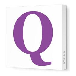 "Avalisa - Letter - Upper Case 'Q' Stretched Wall Art, 28"" x 28"", Purple - Spell it out loud. These uppercase letters on stretched canvas would look wonderful in a nursery touting your little one's name, but don't stop there; they could work most anywhere in the home you'd like to add some playful text to the walls. Mix and match colors for a truly fun feel or stick to one color for a more uniform look."