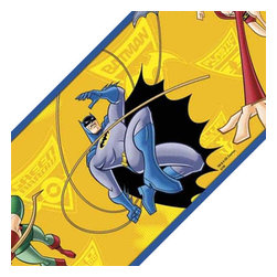 York Wallcoverings - Batman Bold Brave Self-Stick Decor Wall Border Accent Roll - Features: