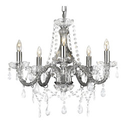 "Authentic Crystal Chandelier Lighting Ceiling Fixture Pendant Lamp Chandeliers - New authentic all crystal chandelier lighting , 5 lights , h19"" X wd 19"" ceiling fixture pendant lamp chandeliers"