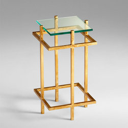 Cyan Design - Gallery End Table - Gallery end table - gold leaf