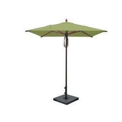 Greencorner - 6.5'x6.5' Mahogany Umbrella, Lime Green - 6.5'x6.5' Square