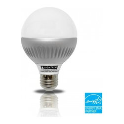 Lightkiwi - Lightkiwi K4824 G25 Warm White Dimmable LED Globe Light Bulb, 60-watt Equivalent - The Lightkiwi™ G25 Globe LED light bulb provides a warm white equivalent to 60 watt incandescent light bulb and lasts up to 40,000 hours while using at least 80% less energy.  This bulb is ideal for kitchens, living rooms, bedrooms, bathrooms,hallways, or any other places where you need G25 Globe light bulb.  UL Approved, Energy Star CertifiedApplicationsResidential / Shipping Mall / Healthcare / Hospitality / Restaurants40,000 Hours LifetimeNo need to replace the light bulb frequently and more cost savingsUses Only 8 Watts of ElectricityOver 80% savings in electricity usage compared with a 60 watt incandescent light bulbover 500 lumens of brightnessProvides same amount of brightness as a 60 Watt incandescent bulbInstant On without FlickeringLights up instantly at full brightness without any flickeringDimmable BulbControl the brightness to a desired level using LED dimmer switch (not included)Mercury-Free designUses no Mercury unlike CFL light bulbsLimited 5-Year Warranty
