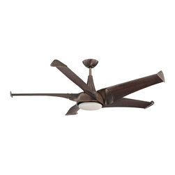 "Savoy House - Ariel 58"" 5 Blade Ceiling Fan - Ariel ceiling fans are, sleek and modern. The blades on this collection were crafted in the style of turbines, resulting in 20 percent more airflow with 20 percent less energy consumption. Maximum air movement with maximum style!."