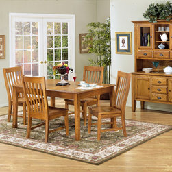 Cambridge - Intercon Cambridge Solid Oak 42-inch Rustic Dinette Table - Add a traditional accent to your home's decor with this Intercon 42-inch Rustic Dinette Table. This table, from the Cambridge Collection, features a solid white oak construction in a rich hand-distressed finish.