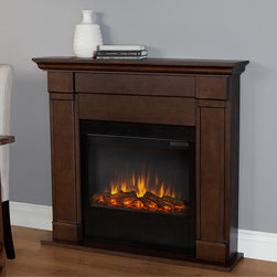 Real Flame - Real Flame Vintage Black Maple Lowry Electric Fireplace - This beautiful Real Flame electric fireplace features a vintage black maple finish and vivid flame technology that will lend a warm ambiance to your interior space, and is complete with programmable settings and a remote control.
