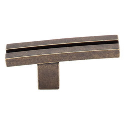 "Top Knobs - Inset Rail Knob - German Bronze (TKTK82GBZ) - Inset Rail Knob 2 5/8"" - German Bronze"