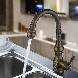 Antique Faucets - Antique Brass Kitchen Faucet (Antique Copper Finish)
