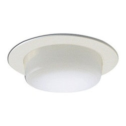 "Nora Lighting - Nora NS-24 4"" Drop Opal Lens with Metal Trim, Ns-24w - *Housing and light bulb sold separately*"