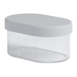 Ole Jensen - Ole Jensen Dry Storage Container with Lid, 59 Ounce capacity - Our Ole Jensen Dry Storage Container with Lid is of 59 ounce capacity. This storage container has a soft, close-fitting lid and safely stores your dry foods or snacks. While designed for food, the elegant design makes it equally suited for office utensils, make-up or any other small items.