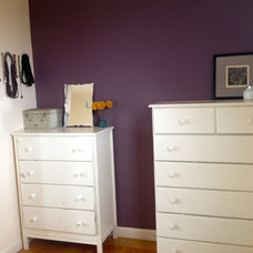 Eclectic  Eggplant accent wall