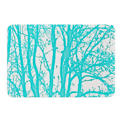 "KESS InHouse - Monika Strigel ""Mint Trees"" Memory Foam Bath Mat (24"" x 36"") - These super absorbent bath mats will add comfort and style to your bathroom. These memory foam mats will feel like you are in a spa every time you step out of the shower. Available in two sizes, 17"" x 24"" and 24"" x 36"", with a .5"" thickness and non skid backing, these will fit every style of bathroom. Add comfort like never before in front of your vanity, sink, bathtub, shower or even laundry room. Machine wash cold, gentle cycle, tumble dry low or lay flat to dry. Printed on single side."