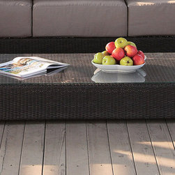 Stephano Wicker Coffee Table - The versatile and stylish, this Stephano Wicker Coffee Table by Source Outdoor has all in one very attractive piece of furniture. Your guests will admire.