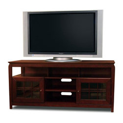 """Tech Craft - Tech-Craft Veneto 60"""" Hi-Boy Walnut Wood LCD/Plasma TV Stand - Tech Craft - TV Stands - BAY6028. The Tech-Craft Veneto Series Walnut 60"""" Hi-Boy Wood Stand is perfect for a living room or bedroom setting. In a rich walnut finish the stand features beautiful framed doors that have a classic design suitable for any decor. With a convenient component slot and ample room for wire management the Veneto Series Walnut 60"""" Hi-Boy Stand is a great choice for people who like to keep their rooms tidy."""