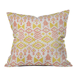 DENY Designs - Loni Harris Tribal Party Throw Pillow - Wanna transform a serious room into a fun, inviting space? Looking to complete a room full of solids with a unique print? Need to add a pop of color to your dull, lackluster space? Accomplish all of the above with one simple, yet powerful home accessory we like to call the DENY throw pillow collection! Custom printed in the USA for every order.