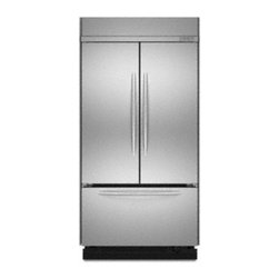"""KitchenAid - Architect Series II KBFC42FTS 42"""" 22.6 cu. ft. French Door Refrigerator  Adjusta - The worlds first built-in French door refrigerator is here and there is room for endless possibilities The versatile design provides the widest refrigerator space available And with 226 cubic feet of space you get the largest refrigeration capacity o..."""