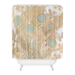 DENY Designs - Cori Dantini Blue Floral Shower Curtain - Who says bathrooms can't be fun? To get the most bang for your buck, start with an artistic, inventive shower curtain. We've got endless options that will really make your bathroom pop. Heck, your guests may start spending a little extra time in there because of it!
