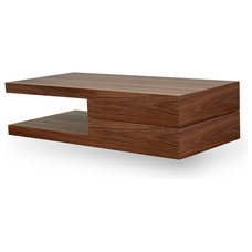Modern Coffee Tables Damian Coffee Table Walnut-Walnut