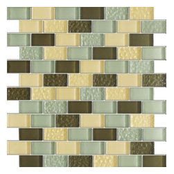 Vintrav Coffee Vanilla 1 in. x 2 in. Glass Mosaic Tiles, Sheet - Vintrav Coffee Vanilla 1 in. x 2 in. Glass Mosaic Tiles for Bathroom Floor, Kitchen Backsplash, unmatched quality, expert.