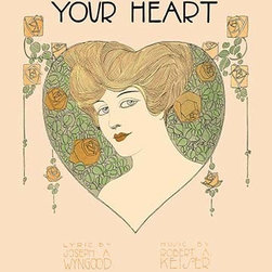 """Buyenlarge.com, Inc. - Your Eyes, Your Lips, Your Heart- Paper Poster 20"""" x 30"""" - Another high quality vintage art reproduction by Buyenlarge. One of many rare and wonderful images brought forward in time. I hope they bring you pleasure each and every time you look at them."""