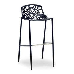 Demeter Black Metal Modern Bar Stool