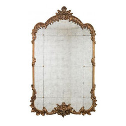 Lilian August - LA81343-01 - Vintage Gold Leaf Finish with antiqued Eglomise Mirrored Panels