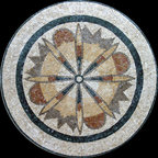 Custom Designed Handcut Marble Mosaic Medallions - Custom Designed and handcrafted Marble Mosaics Medallion Tiles