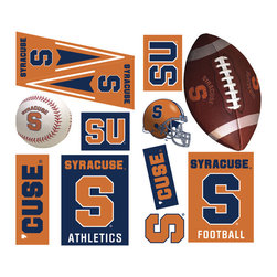 York Wallcoverings - NCAA Syracuse Orangemen 22pc College Wall Accent Stickers - Features: