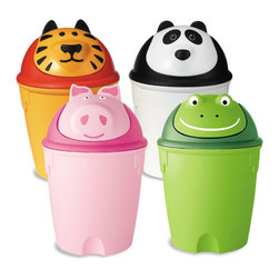 Animal Swing-Lid Cans - These swing-lid cans are not only great for disposing trash, but also as storage bins for toys, Legos and more.