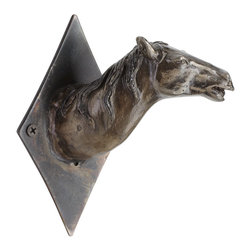 Cyan Design - Cyan Design Horse Head Stretch Coat Hook - 'Maned' for Hanging CoatsThis horse's neck stretches perfectly to hold up your jacket or scarf with a touch of rugged West style. Shiny and aged with its rustic country steel finish, the iron coat hook has a detailed horse head design for eclectic texture on your wall. Use it for function or decor - hang it on a board with the other Horse Head Hooks for a unique touch, or all alone on the wall for a solitary style statement.Crafted from ironFinished in a raw steel toneMounting hardware includedMatches the other Horse Head Coat Hooks