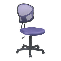 Office Star - Office Star OSP Designs Seating Mesh Task Chair in Purple - Office Star - Office Chairs - EM39800512