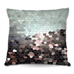 DiaNoche Designs - Pillow Woven Poplin - Patternization III - Toss this decorative pillow on any bed, sofa or chair, and add personality to your chic and stylish decor. Lay your head against your new art and relax! Made of woven Poly-Poplin.  Includes a cushy supportive pillow insert, zipped inside. Dye Sublimation printing adheres the ink to the material for long life and durability. Double Sided Print, Machine Washable, Product may vary slightly from image.