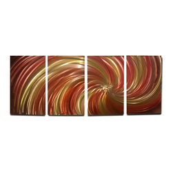Miles Shay - Metal Wall Art Decor Abstract Contemporary Modern Sculpture Hanging Zen- Harvest - This Abstract Metal Wall Art & Sculpture captures the interplay of the highlights and shadows and creates a new three dimensional sense of movement as your view it from different angles.