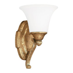 Capital Lighting - Antique Gold Blakely 1 Light Bathroom Fixture Vanity Light - Capital Lighting 8521AG-114 Blakely 1 Light Bathroom Vanity Fixture This item by Capital Lighting is available in an antique gold finish. It is offered