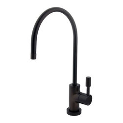 "Kingston Brass - Concord Water Filtration Faucet, Oil Rubbed Bronze - Inspired by its contemporary look, the Concord collection of water filtration faucet is coated with our finest solid brass material sleek and simple in its structure.; Fabricated from high quality brass material for durability and reliability; Lifetime hardisc ceramic cartridge; 3/8"" -14 NPS male threaded inlet shank; Install in decks up to 2"" thickness; 1/4"" turn ON/OFF water control mechanism; Max 2.2 GPM (8.3 LPM) water flow rate at 60 PSI; Material: Brass; Style: Contemporary / Modern; Faucet Holes: 1; Flow Rate GPM: 2.2; Valve Type: Ceramic Disc; Faucet Centers: Single Post; Spout Height: 11.5; Spout Reach: 5.75; Max Deck Thickness: 2; Handle Style: Metal Lever; Number of Handles included: 1; Weight: 1.38 lbs; Dimensions:14.96""L x 5.35""W x 1.81""H"