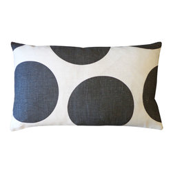 Jiti - Ball Black Pillow - Jazz up your home decor with our Ball Black Pillow!  Made from 100% Cotton. Invisible Zipper. DRY CLEAN ONLY. Insert is made of 95% feathers and 5% down.