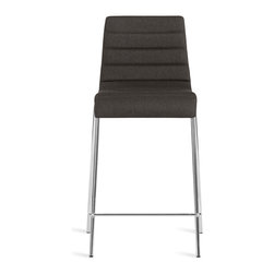 Blu Dot - Blu Dot Counterstool, Gun Metal - Roy Counterstool is a solid workhorse for the office, home or contract application. A padded and upholstered seat keeps things on the softer side, while the steel legs provides sure footing. Stackable. Available in chair, barstool & counterstool.