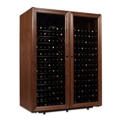 440 Bottle Venetian Wine Cabinet - Elegance and affordability come together to create this truly unique full-length window door style. Super solid and luxurious to the touch, the Venetian will hold your collection in style.