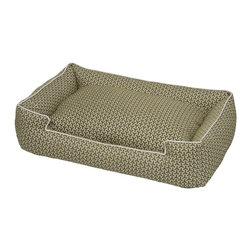 Jax & Bones - Jax & Bones Eve Lounge Bed Eve Green Medium Large - These beds have cozy surrounding bolsters which allow your pet to curl, snuggle, or lean against. Ideal for pets who need extra reassurance and warmth. These beds have zippers and removable inserts for easy maintenance and care. A diverse selection of heavy weight fabrics that are machine washable and luxurious to the touch. Most of these fabrics carry a texture that will create a uber luxurious upholstery feeling dog bed.  100% Machine Washable  and Certified Eco-Friendly!