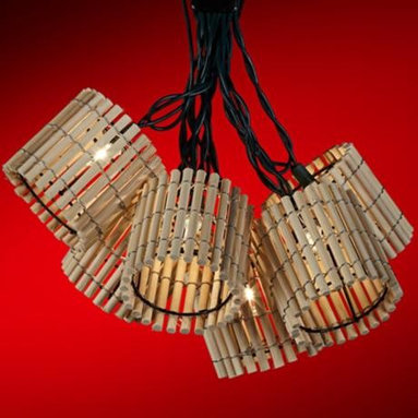 Bamboo Lantern Party Light Set - I bet these bamboo string lights cast a fun glow.