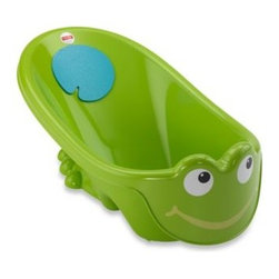 Fisher Price - Fisher-Price Tadpole Bath Tub - This playful character tub is designed for newborns and infants. It features a baby stopper that helps to keep your baby secure and comfortable and a soft foam cushion for your child's back.