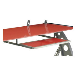Pitstop Furniture - Pitstop Red GT Spoiler Desk Pull Out Tray - Pitstop Red GT Spoiler Desk Pull Out Tray
